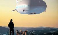 Léghajós szállítás a messzi tundrán