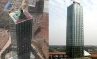 30 emeletes földrengésálló felhőkarcoló bújt ki a földből 15 nap alatt