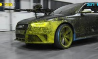 Audi RS4 paintball párbaj