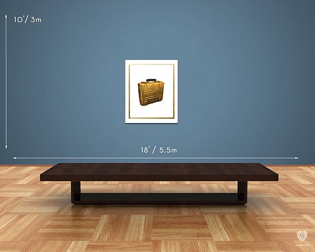 Battlefield 4 gold battlepack goes up the wall as a $2500 gilded print