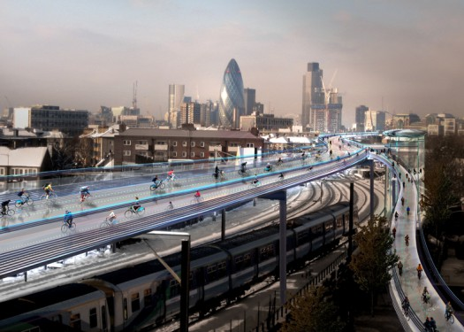 Foster-SkyCycle-cycling-utopia-London