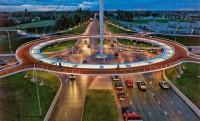 Hovenring: a világ első lebegő biciklis körforgalma