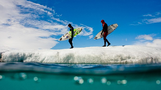 surfers-on-iceberg