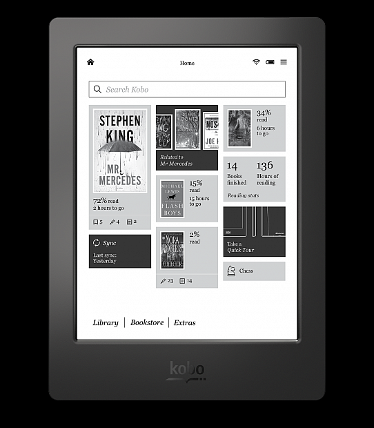 kobo-aura-h2o-home-screen