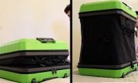Gombnyomásra felfújja magát a Fugu koffer