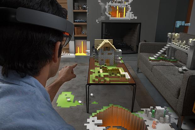 Microsoft-HoloLens-MineCraft