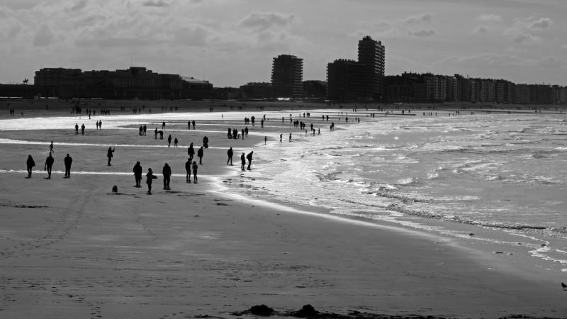 Oostende tengerpart, Belgium