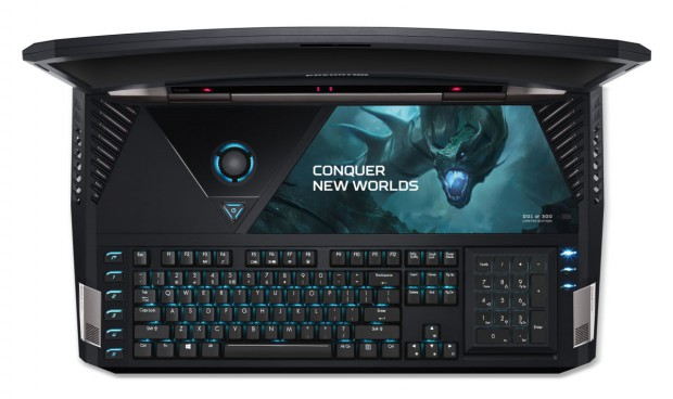 Acer-Predator_21_X_GX21-71_keyboard-from-above_lights-on_number-pad