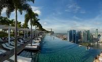 Marina Bay Sands Skypark – Semiramis függőkertje, medencével