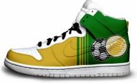 Egyedi Twitter és VB csapat dizájnos Nike cipők