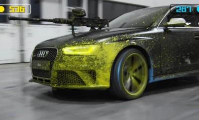 Audi RS4 paintball párbaj 49ce2f5928
