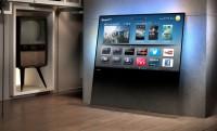 Philips DesignLine TV: falnak támasztott áttetsző üveglap