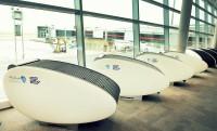 Alvókapszulák Abu Dhabi repterén
