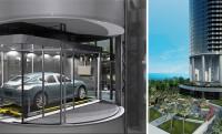 Porsche Torony: panorámalift viszi az autót az 57. emeleten lévő luxuslakásig