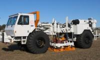 30 tonnás mobil földrengés-szimulátor