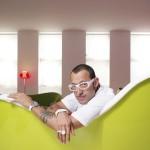 karim Rashid designer in his house in New York