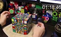 8 óra alatt kirakta a 17*17*17-es Rubik-kockát