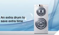 Dupladobos mosógép: színes + fehér mehet egyszerre