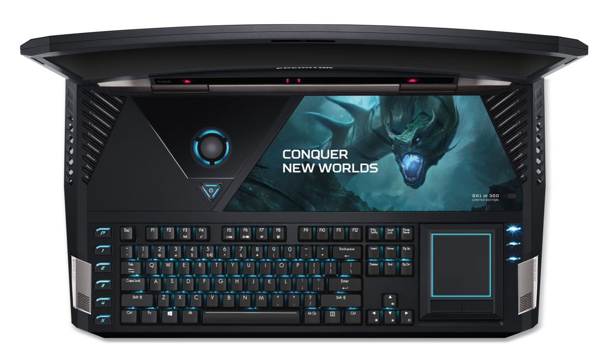 Acer-Predator_21_X_GX21-71_keyboard-from-above_lights-on_touchpad